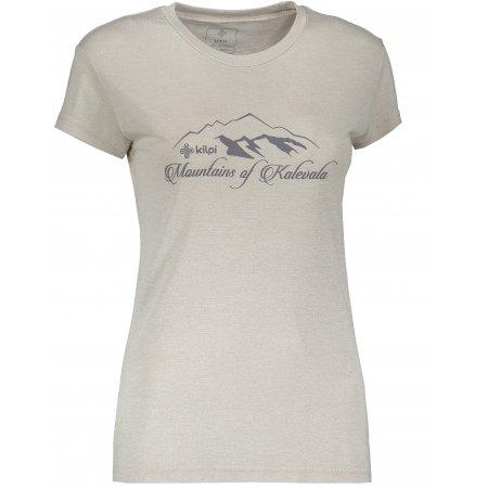 Dámské tričko s krátkým rukávem KILPI GAROVE-W SVĚTLE ŠEDÁ