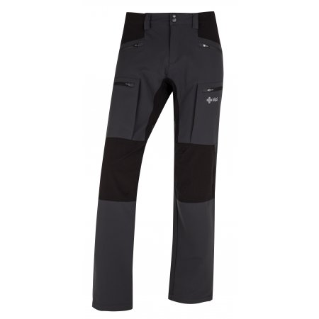 Pánské kalhoty KILPI TIDE-M HM0112KI TMAVĚ ŠEDÁ