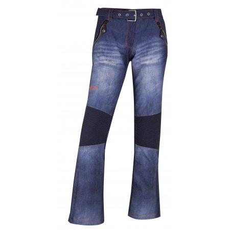 Dámské zimní softshellové kalhoty KILPI JEANSO-W HL0023KI MODRÁ