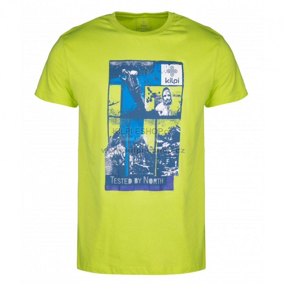 f6121bbfdd61 Pánské tričko s krátkým rukávem KILPI LUCKYBOY-M HM0098KI SVĚTLE ZELENÁ