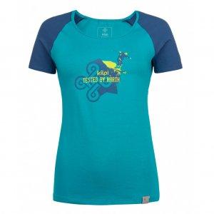 Dámské tričko s krátkým rukávem KILPI APPLE-W HL0173KI TYRKYSOVÁ