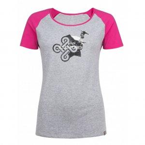 Dámské tričko s krátkým rukávem KILPI APPLE-W HL0173KI SVĚTLE ŠEDÁ
