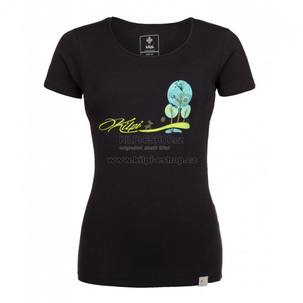 2ad4fb0fbbf Dámské tričko s krátkým rukávem KILPI LIVI-W HL0166KI ČERNÁ velikost ...