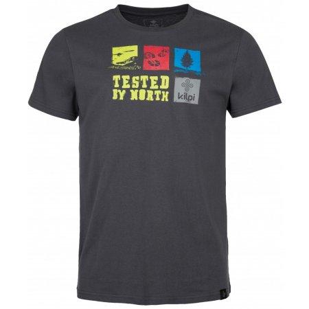 Pánské triko s krátkým rukávem KILPI TOBY-M IM0068KI TMAVĚ ŠEDÁ