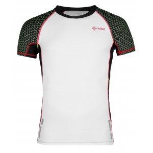Pánské kompresní triko s krátkým rukávem KILPI COMBO-M IM0011KI BÍLÁ