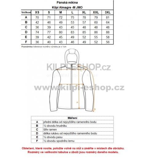 Pánská fleecová mikina KILPI ALMAGRE-M JM0144KI ČERNÁ velikost  XS ... ca2a481008f