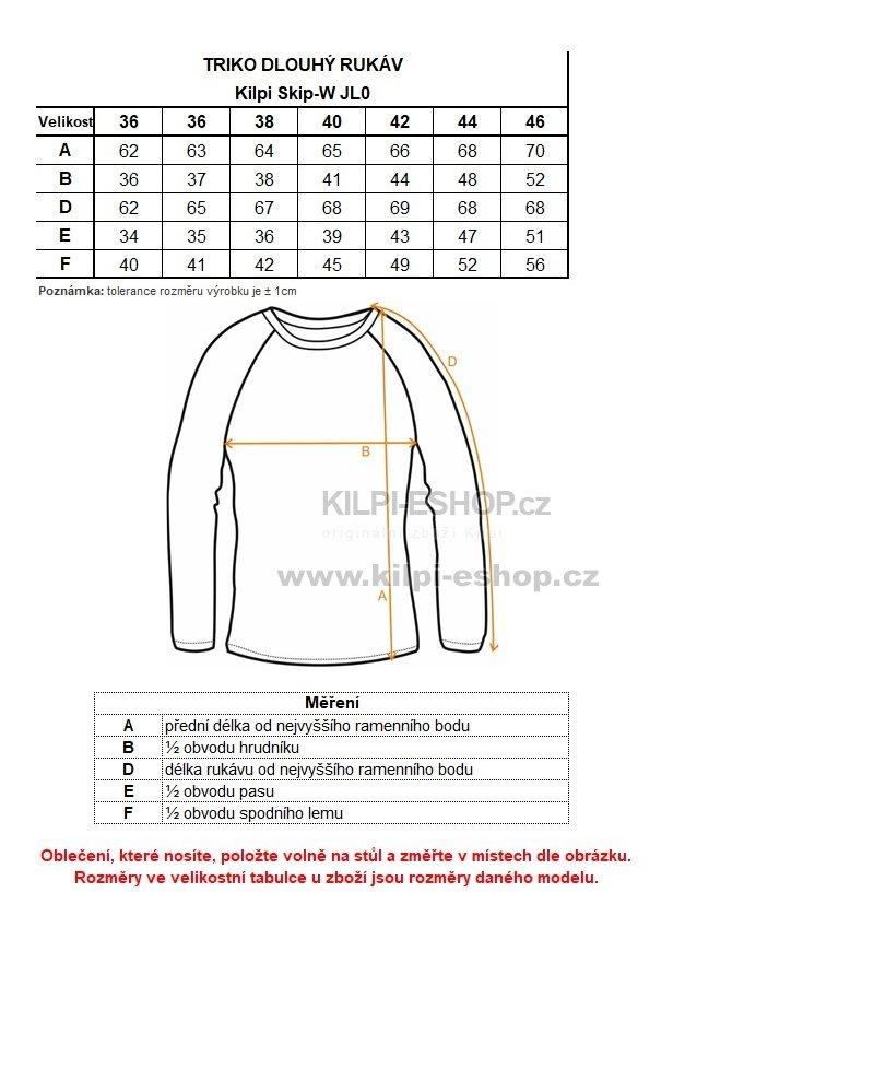 079f6be73f8 Dámské triko KILPI SKIP-W JL0227KI ČERNÁ velikost  36   KILPI-ESHOP.cz