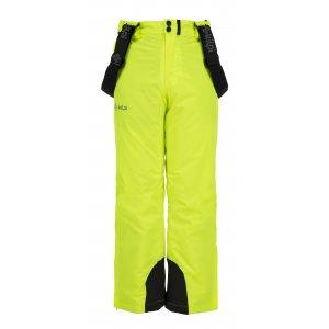 Chlapecké lyžařské kalhoty KILPI METHONE-JB JJ0089KI ŽLUTÁ