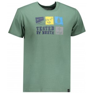 Pánské triko s krátkým rukávem KILPI TOBY-M IM0068KI KHAKI