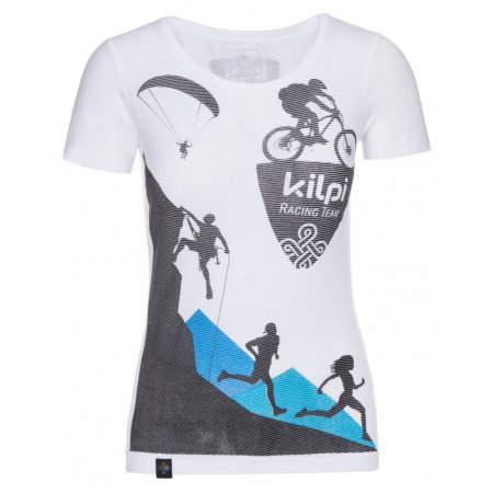 Dámské triko s krátkým rukávem KILPI TEMY-W KL0253KI BÍLÁ