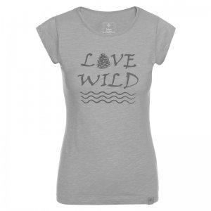 Dámské triko s krátkým rukávem KILPI FLORI-W KL0338KI SVĚTLE ŠEDÁ