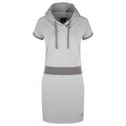 Dámské šaty KILPI MISSON-W KL0160KI SVĚTLE ŠEDÁ