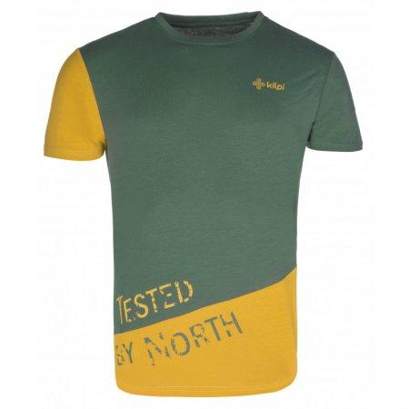 Pánské triko s krátkým rukávem KILPI CUTTY-M KM0256KI KHAKI