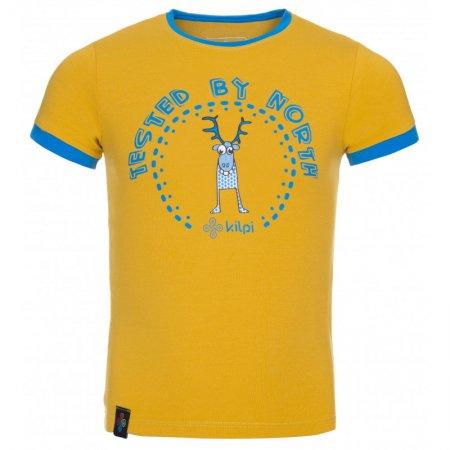 Chlapecké triko s krátkým rukávem KILPI MERCY-JB KJ0085KI ŽLUTÁ