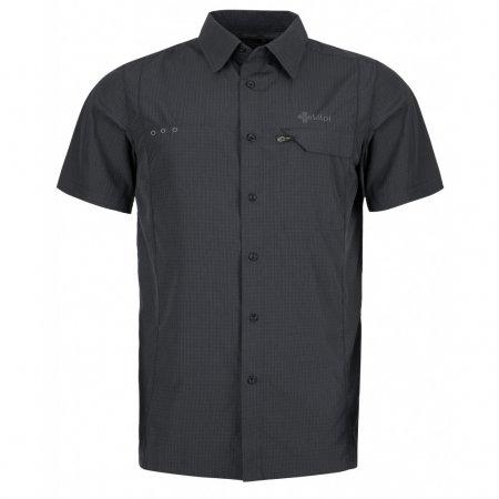 Pánská košile KILPI BOMBAY-M KM0151KI TMAVĚ ŠEDÁ