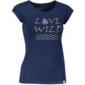 Dámské triko s krátkým rukávem KILPI FLORI-W KL0338KI TMAVĚ MODRÁ