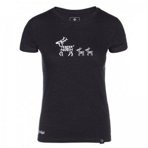 Dámské triko s krátkým rukávem KILPI BARKA-W KL0251KI ČERNÁ