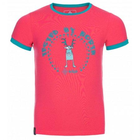 Dívčí triko s krátkým rukávem KILPI MERCY-JG KJ0072KI RŮŽOVÁ