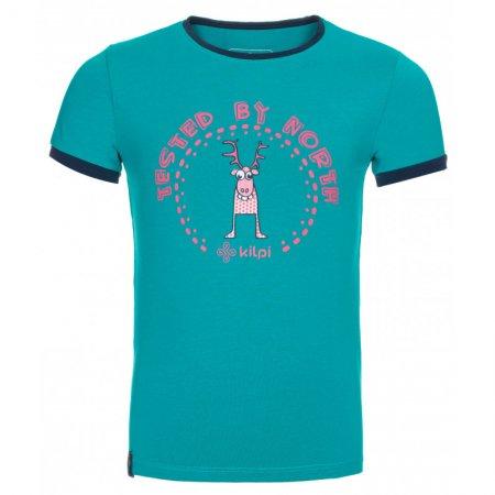 Dívčí triko s krátkým rukávem KILPI MERCY-JG KJ0072KI TYRKYSOVÁ