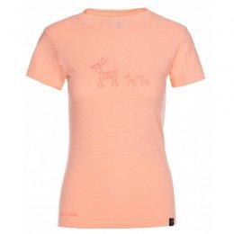Dámské triko s krátkým rukávem KILPI BARKA-W KL0251KI SVĚTLE ORANŽOVÁ