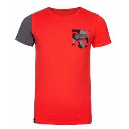 Chlapecké triko s krátkým rukávem KILPI VIVAN-JB KJ0084KI ČERVENÁ