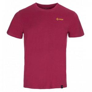 Pánské triko s krátkým rukávem KILPI WINGS-M KM0152KI TMAVĚ ČERVENÁ