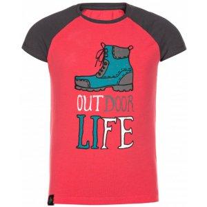 Dívčí triko s krátkým rukávem KILPI MOPED-JG KJ0021KI RŮŽOVÁ