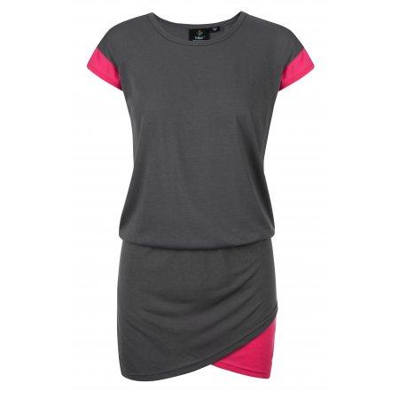 Dámské šaty KILPI LABATUT-W KL0157KI TMAVĚ ŠEDÁ