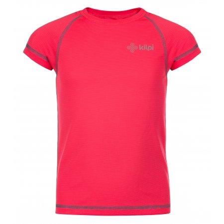 Dívčí funkční triko KILPI TECNI-JG KJ0075KI RŮŽOVÁ