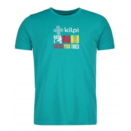Pánské funkční triko KILPI GIACINTO-M KM0110KI TYRKYSOVÁ