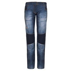 Dámské zimní softshellové kalhoty KILPI JEANSO-W LL0030KI MODRÁ