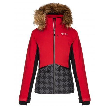 Dámská zimní bunda KILPI TESSA-W LL0042KI ČERVENÁ