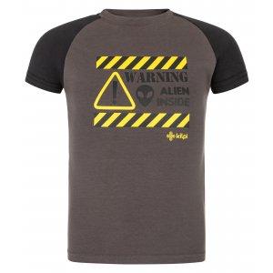 Chlapecké triko KILPI SALO-JB MJ0012KI TMAVĚ ŠEDÁ