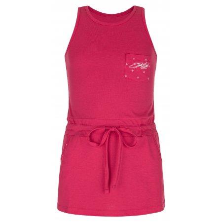 Dívčí šaty KILPI FANTASIA-JG MJ0029KI RŮŽOVÁ