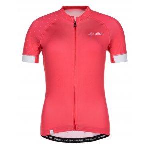 Dámský cyklistický dres KILPI WILD-W ML0042KI RŮŽOVÁ