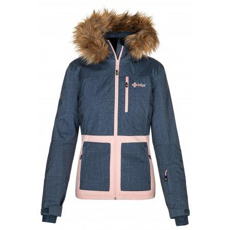 Dámská lyžařská bunda KILPI TESSA-W NL0015KI TMAVĚ MODRÁ