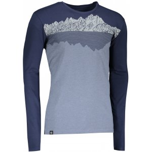 Pánské tričko s dlouhým rukávem KILPI DRUMON-M NM0101KI MODRÁ