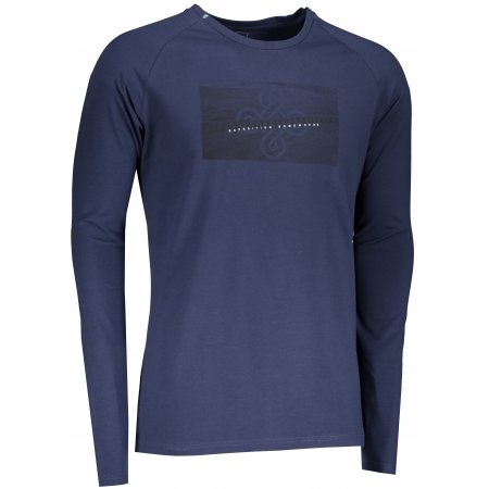 Pánské tričko s dlouhým rukávem KILPI SOREL-M NM0100KI TMAVĚ MODRÁ