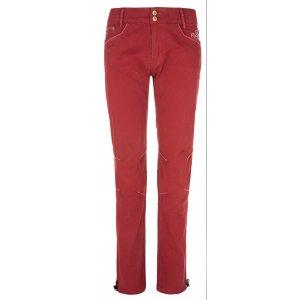 Dámské kalhoty KILPI DANNY-W NL0075KI TMAVĚ ČERVENÁ