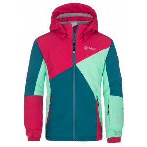 Dívčí lyžařská bunda KILPI SAARA-JG NJ0019KI TYRKYSOVÁ