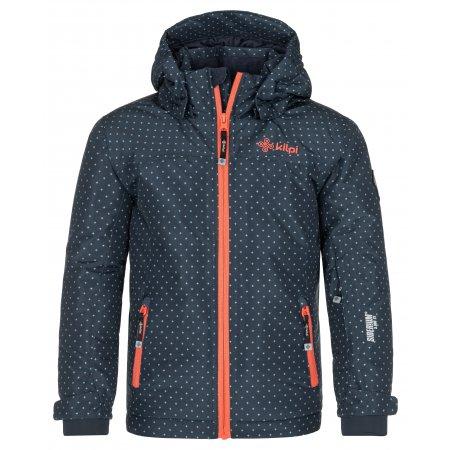 Dětská lyžařská bunda KILPI JENOVA-JG NJ0021KI TMAVĚ MODRÁ