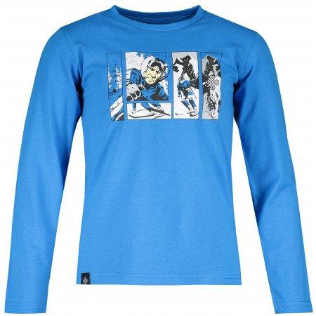 Dětské tričko s dlouhým rukávem KILPI NURMES-JB NJ0055KI MODRÁ