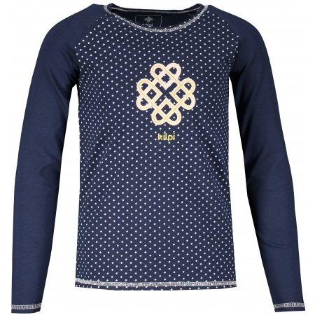 Dívčí tričko s dlouhým rukávem KILPI VANILA-JG NJ0064KI TMAVĚ MODRÁ