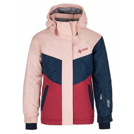 Dívčí lyžařská bunda KILPI MILS-JG NJ0020KI SVĚTLE RŮŽOVÁ
