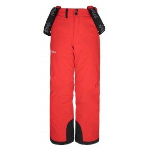 Chlapecké lyžařské kalhoty KILPI METHONE-JB NJ0015KI ČERVENÁ