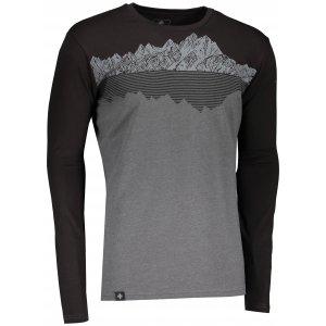 Pánské tričko s dlouhým rukávem KILPI DRUMON-M NM0101KI TMAVĚ ŠEDÁ