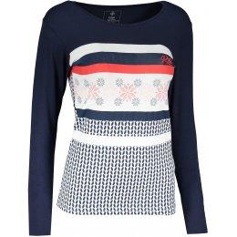Dámské tričko s dlouhým rukávem KILPI JULS-W NL0101KI TMAVĚ MODRÁ