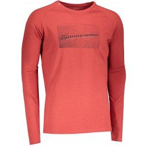 Pánské tričko s dlouhým rukávem KILPI SOREL-M NM0100KI TMAVĚ ČERVENÁ