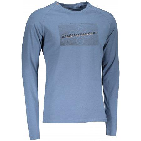 Pánské tričko s dlouhým rukávem KILPI SOREL-M NM0100KI MODRÁ