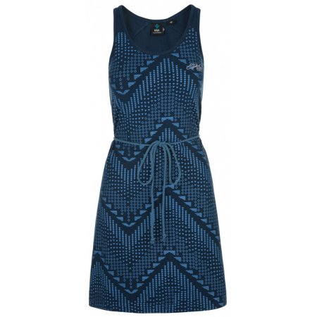 Dámské šaty KILPI MELIA-W PL0096KI TMAVĚ MODRÁ